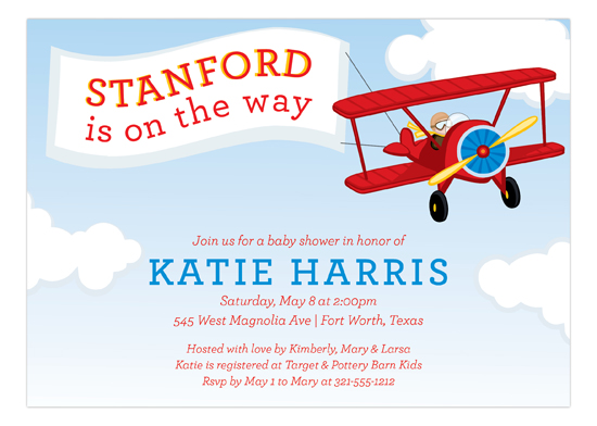 Airplane and Banner Invitation