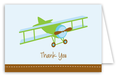 Airplane Note Card