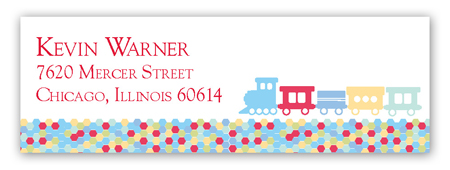 All Aboard Address Label