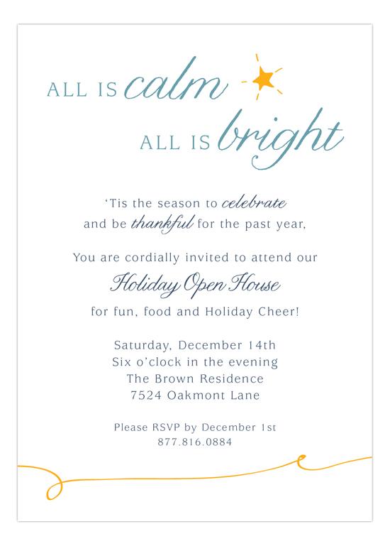 All is Bright Invitation
