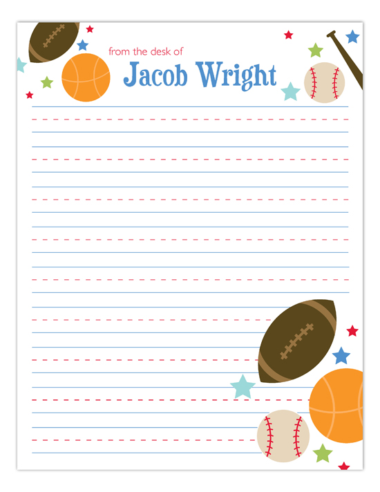 All Star Athlete Notepad
