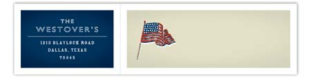 Americana Flag Envelope Wrap