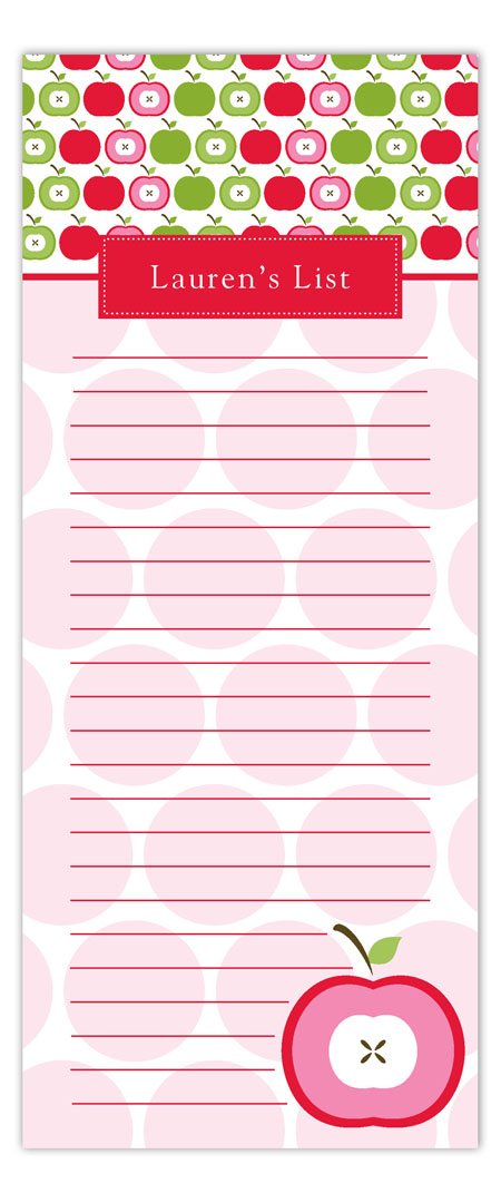 Apple A Day Notepad