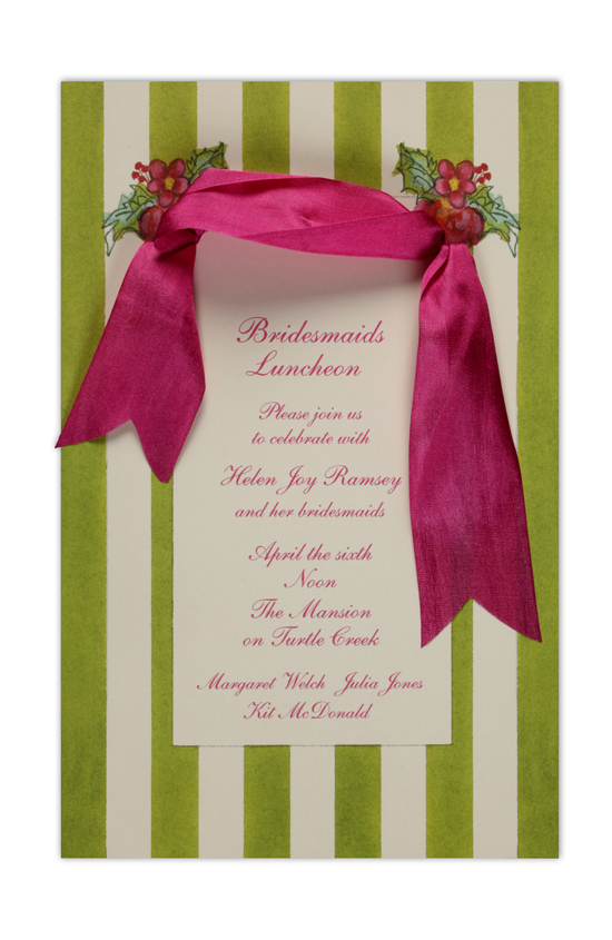 Apple Awning Invitation