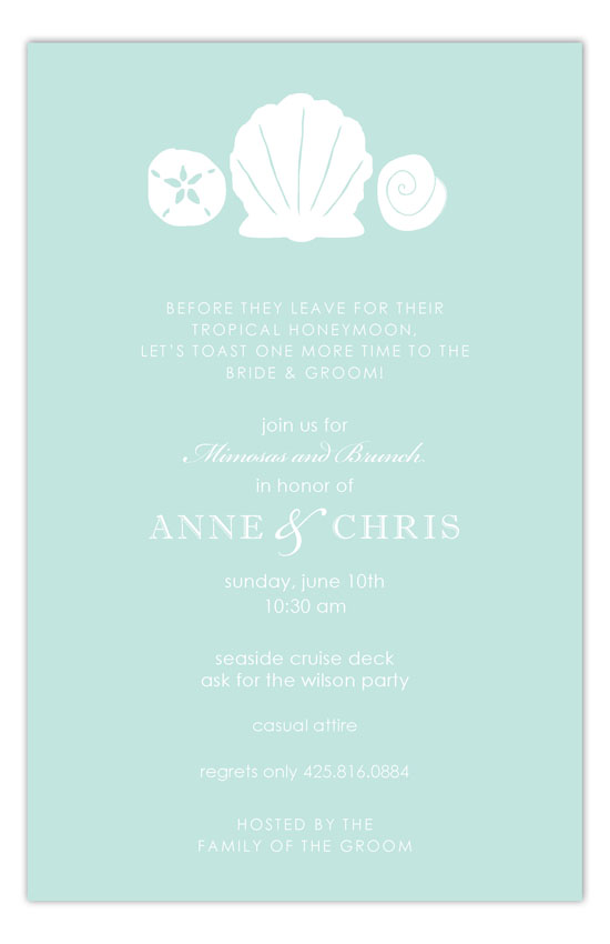 Aqua Sea Treasures Invitation