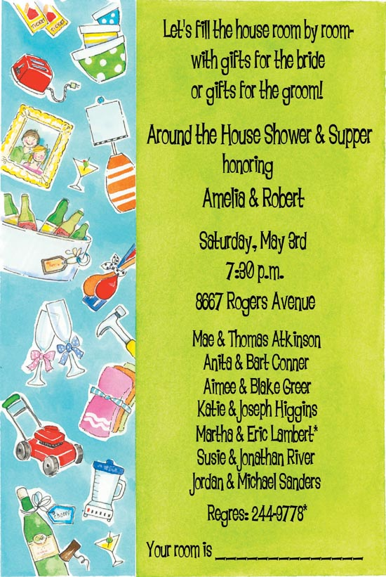 Around the House Shower Couples Invitation