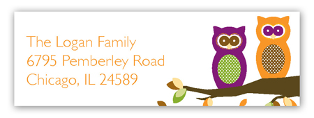 Autumn Owls Address Label