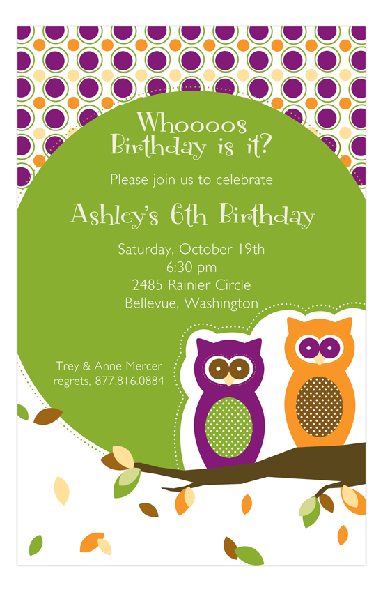 Autumn Owls Invitation