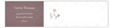 Baa Baa Black Sheep  Envelope Wrap Address Label