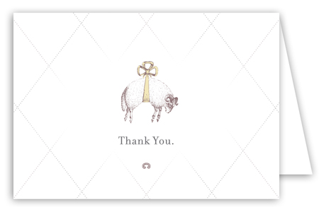 Baa Baa Black Sheep Note Card