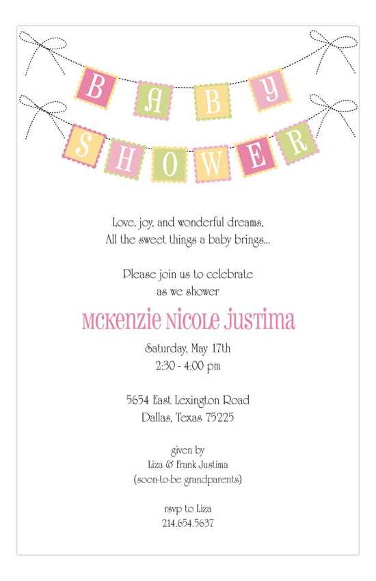 Baby Swag Banner Pink Invitation