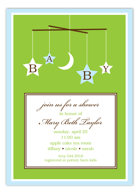 Baby Blue Mobile Invitation