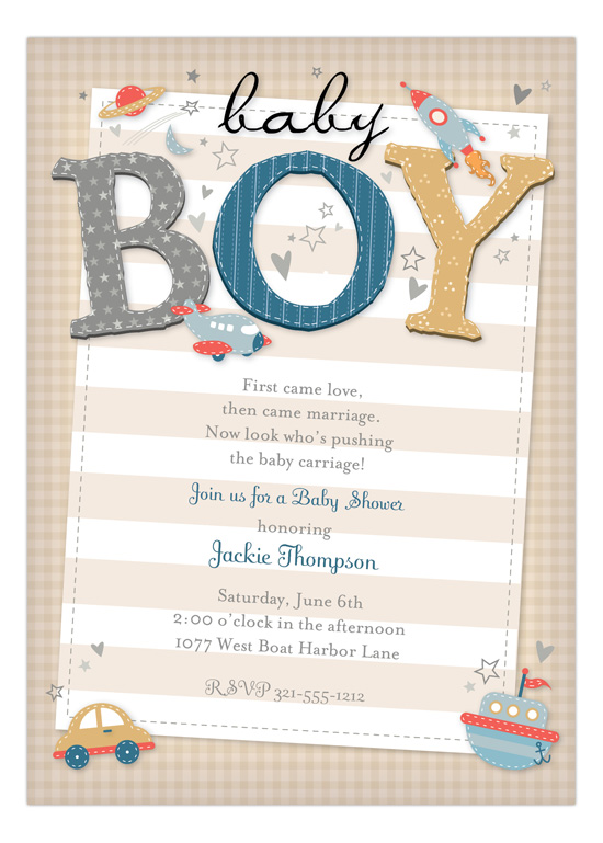 Baby Showers Invitations for boys