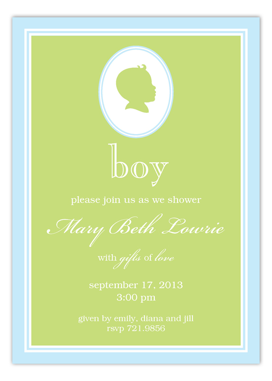 Baby Boy Silhouette Invitation
