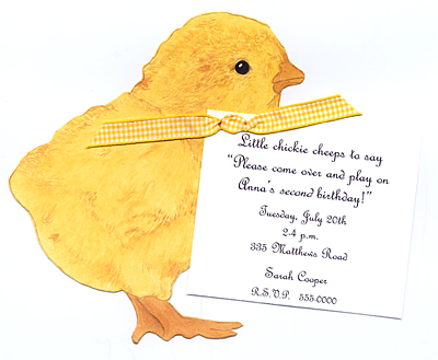 Baby Chick Invitation