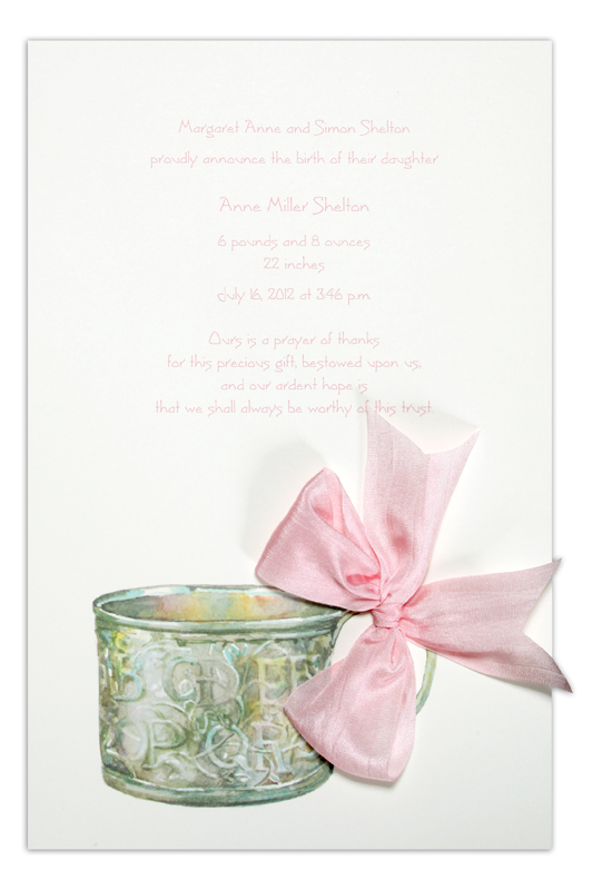 Baby Cup Pink Invitation