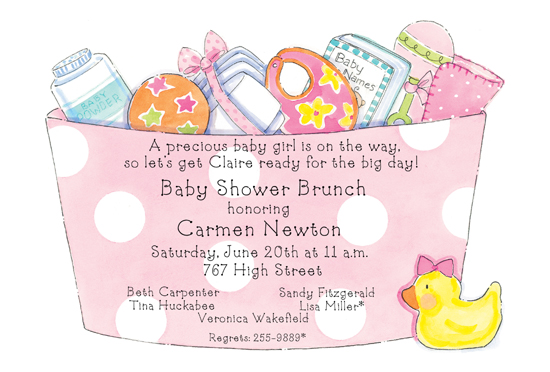 baby-girl-basket-die-cut-invitation-picp-20644dc Get Ready for the Polka Dot Design Big Clearance Sale!