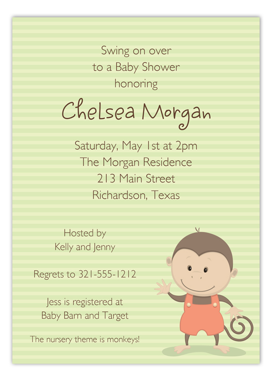 Baby Monkey Invitation