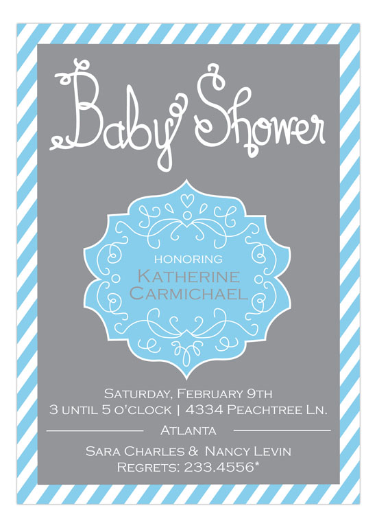 Baby Shower Crest Boy Invitation