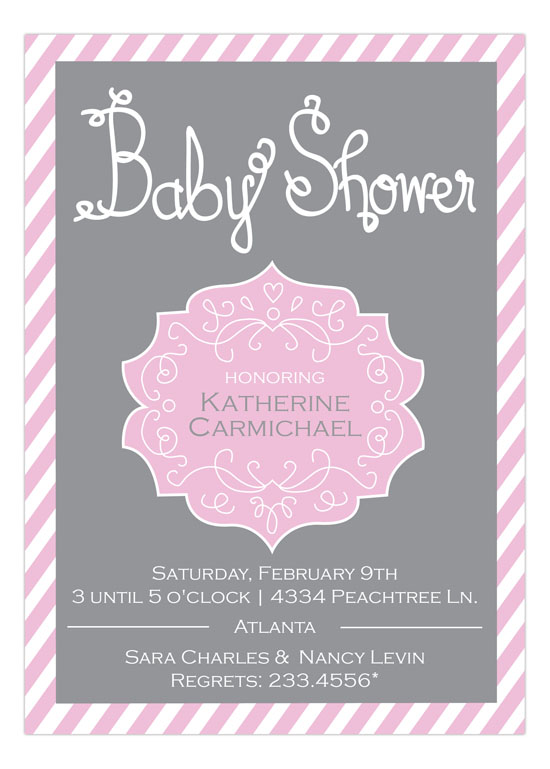 Baby Shower Crest Girl Invitation