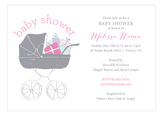 Baby Shower Stroller Girl