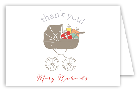 Baby Shower Stroller Neutral Note Card