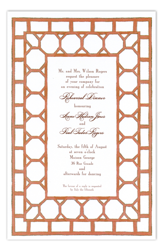 Bamboo Peach Invitation