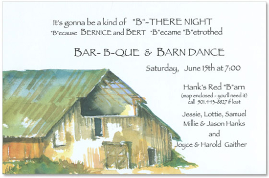 Barn Invitation