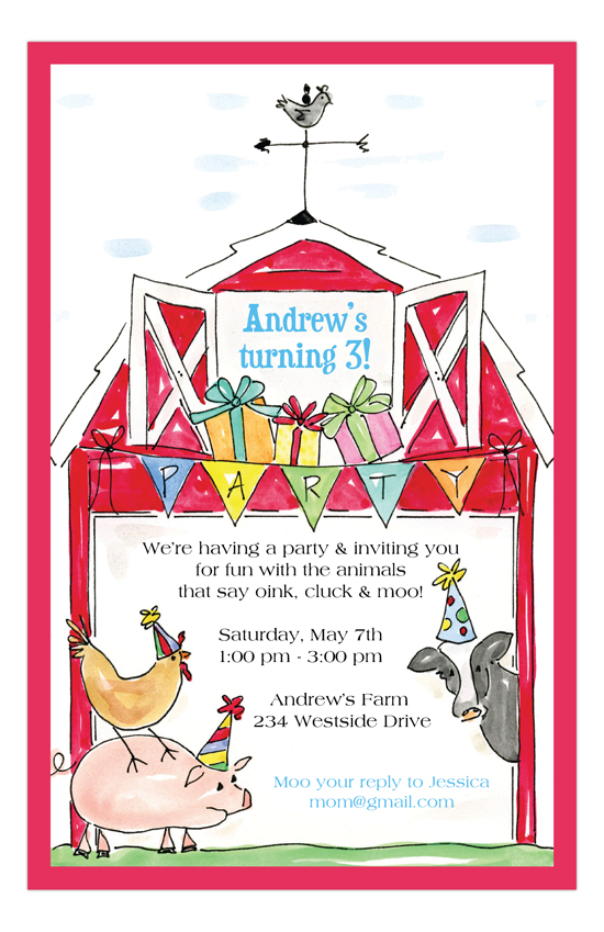 Barnyard Birthday Farm Kids Party