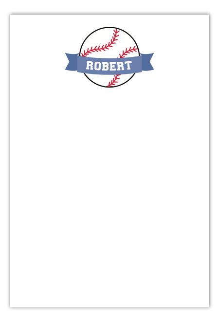 Baseball Banner Flat Note Card