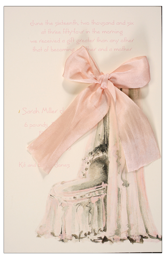 Bassinet Pink Baby Shower Invitation