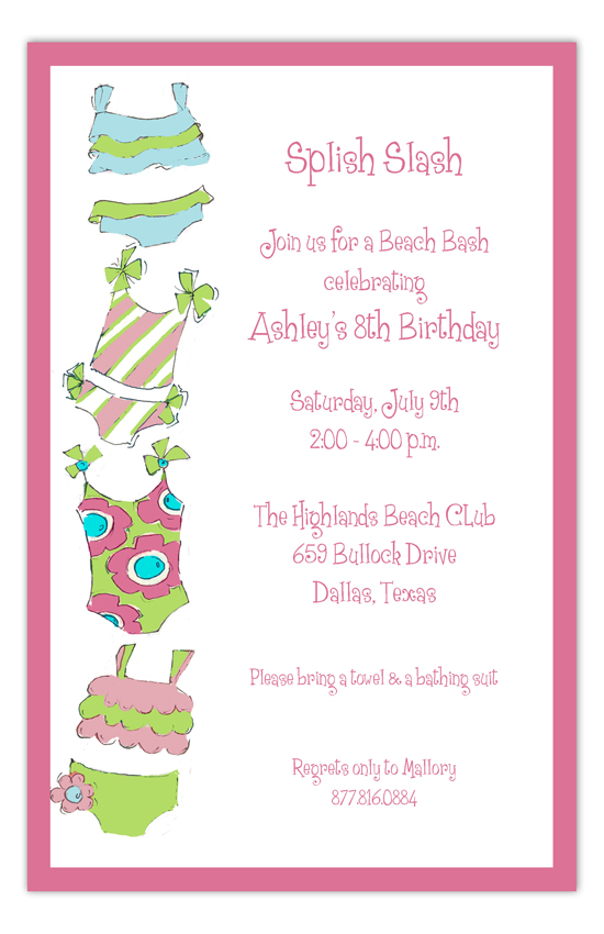 Bathing Suits Galore Invitation
