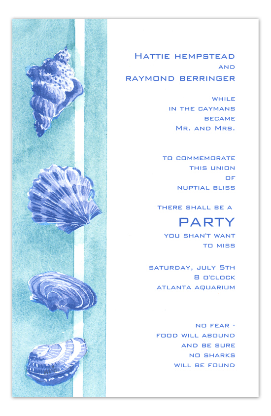 Beach Find Nautical Bridal Shower Invitation