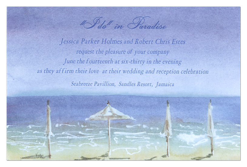 Beach Shade Invitation