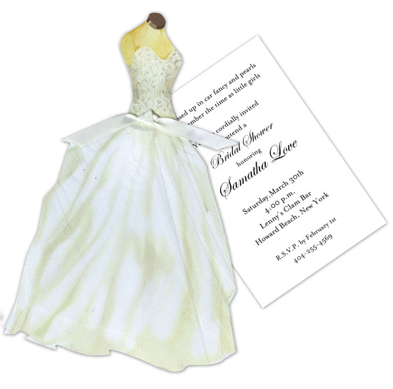 Beaded Bridal Gown Invitation