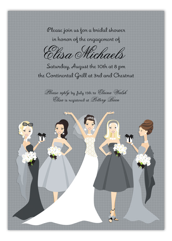 Bella Bridesmaids Invitation