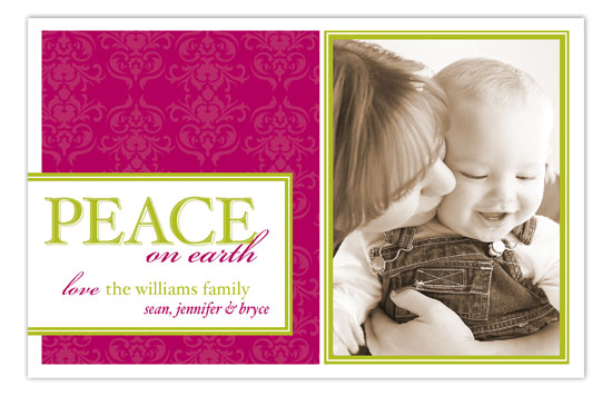 Berry Peace on Earth Photo Card