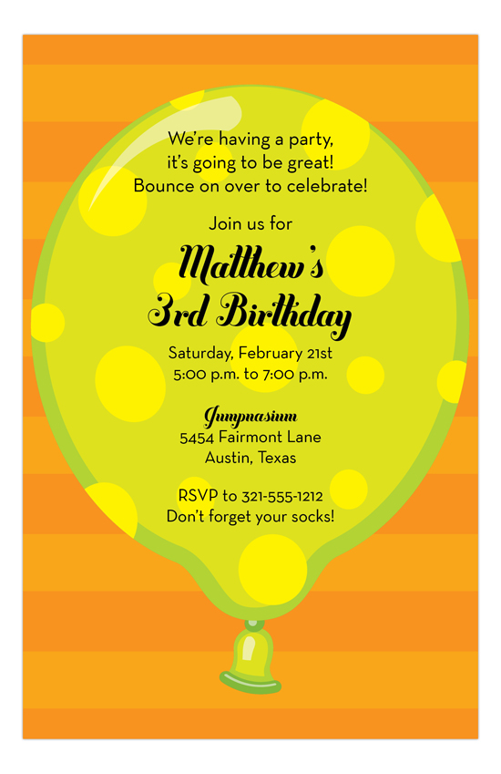 Big Balloon Invitation