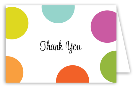 Big Cute Polka Dots Adult Thank You Cards