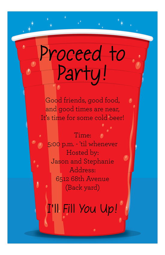 Big Red Cup Invitation
