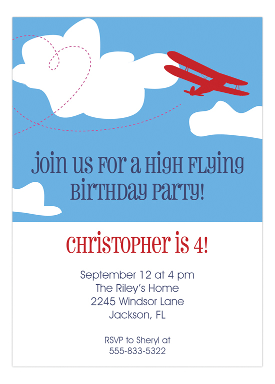 Biplane Airplane Birthday