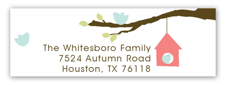Bird Watching Address Label