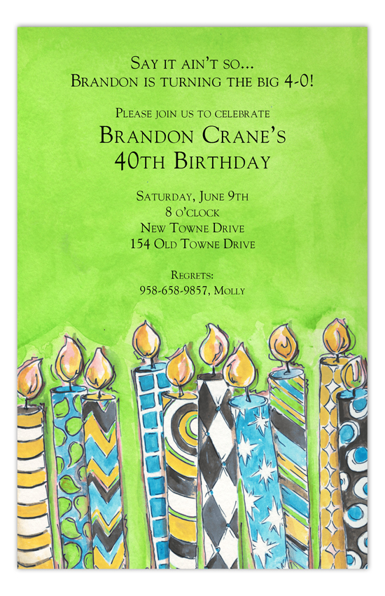 Birthday Blowout Milestone Birthday Invitations