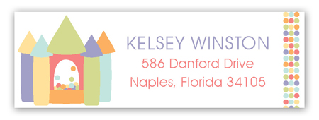 Birthday Bounce Pastels Address Label