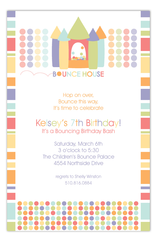 Birthday Pastels Bounce House Party