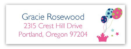 Birthday Castle Address Label