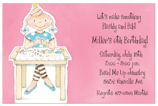 Birthday Crafts Invitation