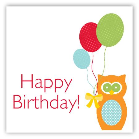 Birthday Owl Gift Tag Pddd Ccsqbd9007