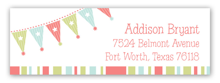 Birthday Party Banner Address Label