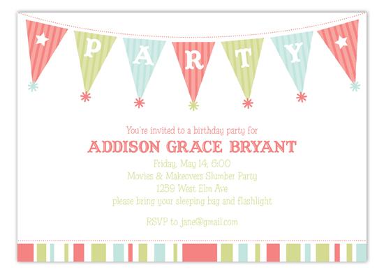 birthday party banner kids birthday party invitation